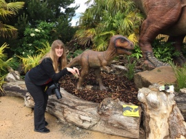 Britannia 6 July 2015 Edinburgh zoo Joanne and dinosaur