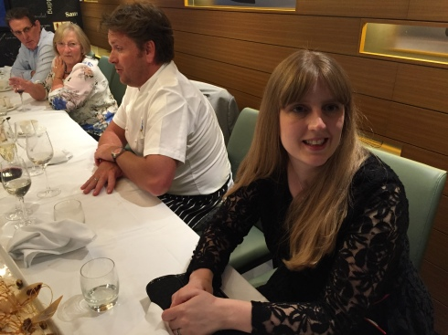 Britannia 6 July 2015 The Cookery Club dining with James Martin