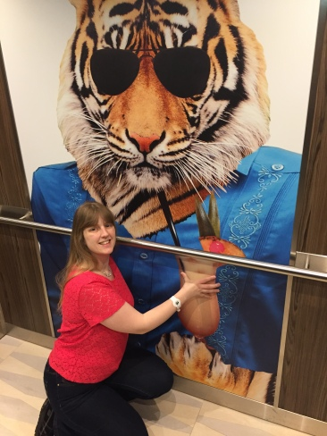 Anthem of the Seas Joanne lift tiger