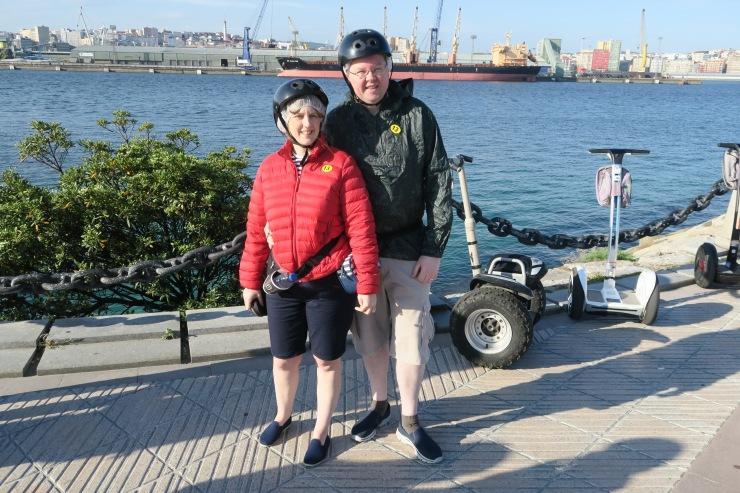 La Coruna - April 2017 - Joanne and Jason segway