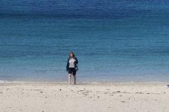 Azura of the Seas Joanne on beach at La Coruna