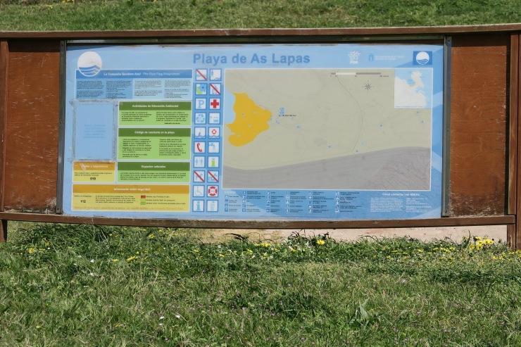La Coruna - April 2017 - Playa de As Lapas map