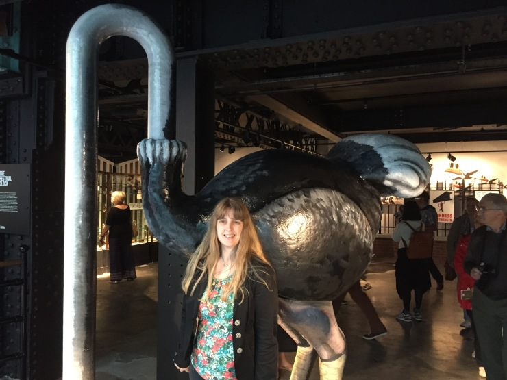 Dublin - July 2015 - Guinness Factory - Joanne and flamingo