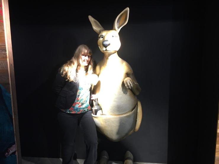 Dublin - July 2015 - Guinness Factory - Joanne and kangeroo