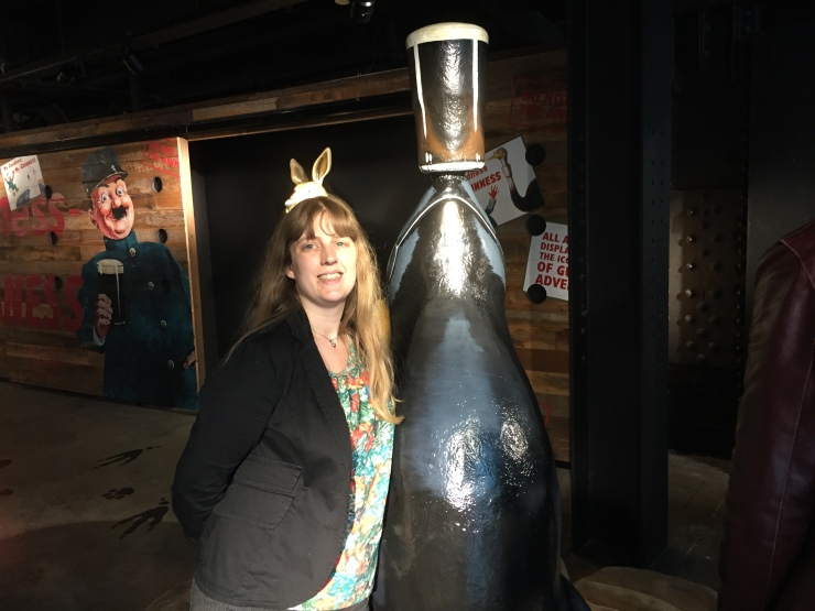 Dublin - July 2015 - Guinness Factory - Joanne and seal