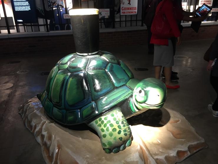 Dublin - July 2015 - Guinness Factory - turtle