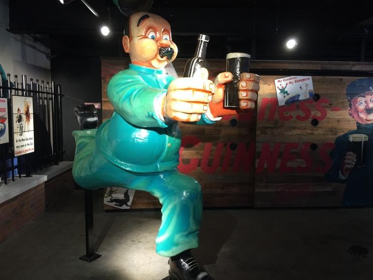 Dublin - July 2015 - Guinness Factory - man