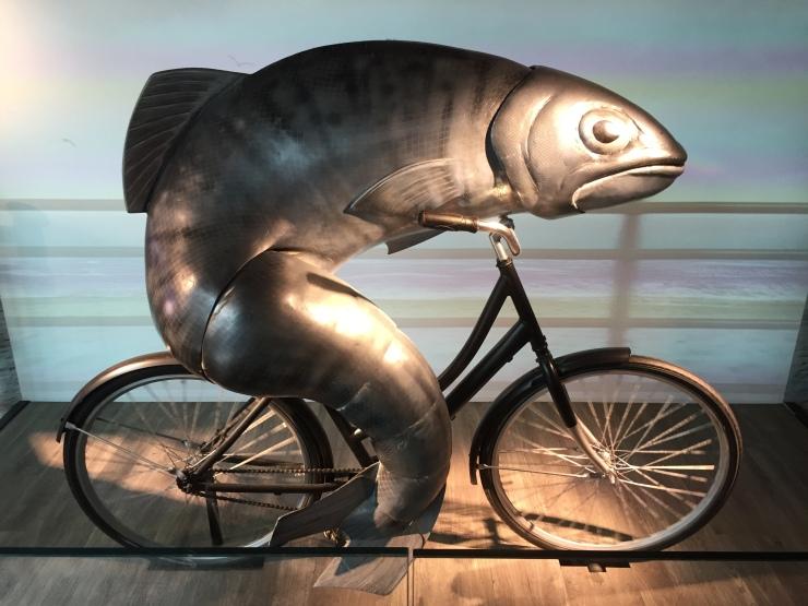 Dublin - July 2015 - Guinness Factory - fish on bike