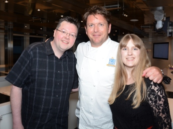 Britannia 6 July 2015 The Cookery Club Jason, James Martin and Joanne
