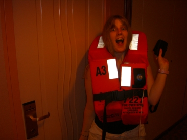 Voyager of the Seas - Joanne and her life jacket