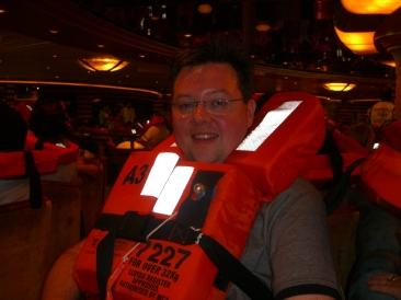 Voyager of the Seas - life jacket on