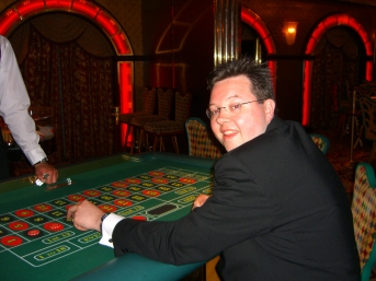 Voyager of the Seas - Jason at the roulette