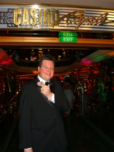 Voyager of the Seas - Jason at the casino