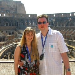 Voyager of the Seas - us in Rome