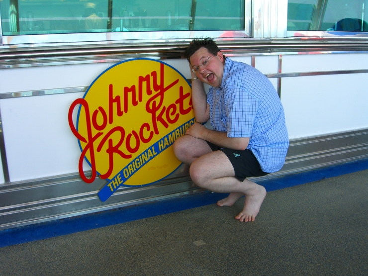 Voyager of the Seas - Jason at Johnny Rockets