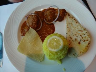Britannia 6 July 2015 food