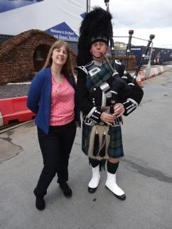 Britannia 6 July 2015 Glasgow bagpipes Joanne