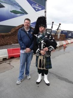 Britannia 6 July 2015 Glasgow bagpipes Jason