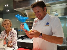Britannia 6 July 2015 The Cookery Club Mary Berry and James Martin