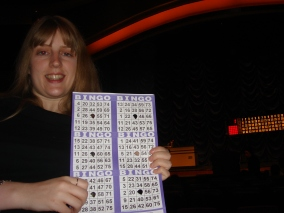 Voyager of the Seas - Joanne playing bingo