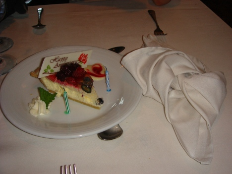 Voyager of the Seas - anniversary cake and the knot