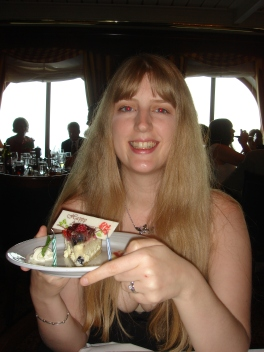 Voyager of the Seas - Joanne and her anniversary cake
