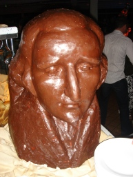 Voyager of the Seas - Midnight feast a head of a man out of chocolate