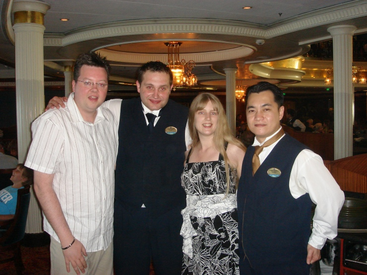 Voyager of the Seas - us with our waiters
