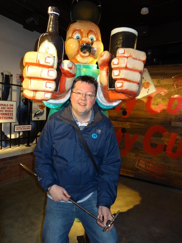 Dublin - July 2015 - Guinness Factory - Jason and man