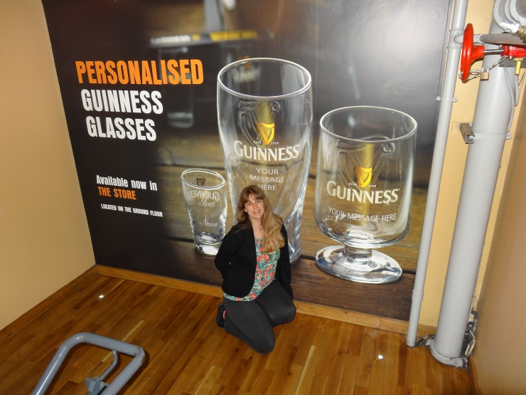 Dublin - July 2015 - Guinness Factory - Joanne and poster