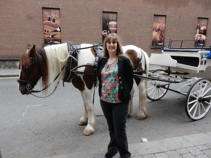 Dublin - July 2015 - Joanne and horse and cart