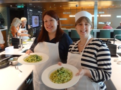 Britannia 6 July 2015 Cookery Class on-board Joanne and her creation
