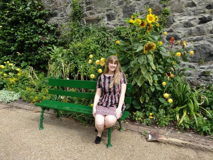 Britannia 6 July 2015 Guernsey Joanne in garden