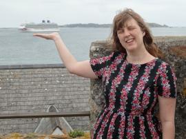 Britannia 6 July 2015 Guernsey Joanne holding Britannia