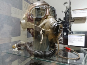 Britannia 6 July 2015 Guernsey war museum gas mask
