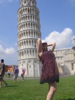 Independence of the Seas 30 June 2012 Joanne Leaning Tower of Pisa