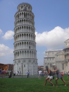 Independence of the Seas 30 June 2012 Emma and Caroline Leaning Tower of Pisa