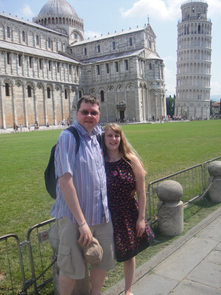 Livorno - July 2012 - Jason and Joanne at the Leaning Tower of Pisa