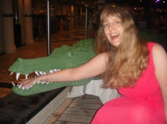 Independence of the Seas 30 June 2012 Joanne and croc