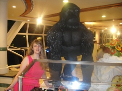 Independence of the Seas 30 June 2012 Joanne food feast Gorilla