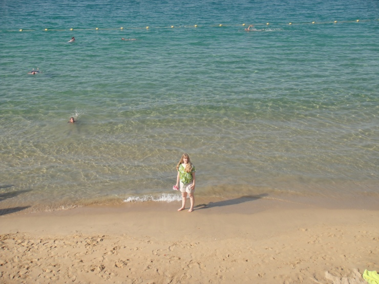 Ajaccio - July 2012 - Joanne on beach