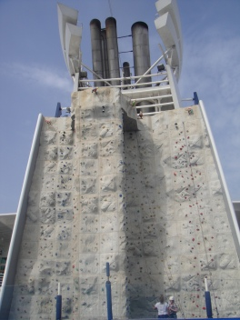 Independence of the Seas 30 June 2012 rock climbing