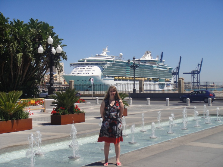 Cadiz - July 2012 - Joanne with Independence of the Seas behind