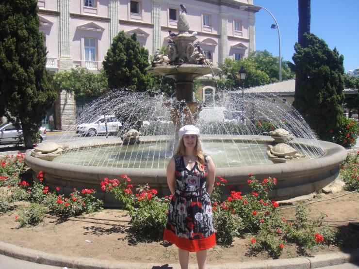 Cadiz - July 2012 - Joanne at fountain