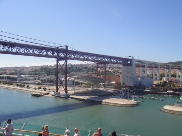 Independence of the Seas 30 June 2012 Lisbon Bridge