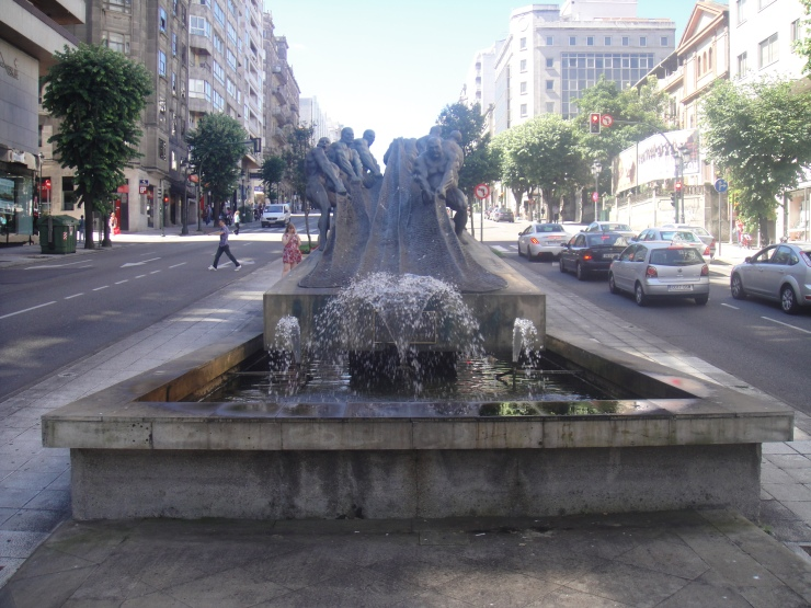 Vigo - July 2012 - the fountain