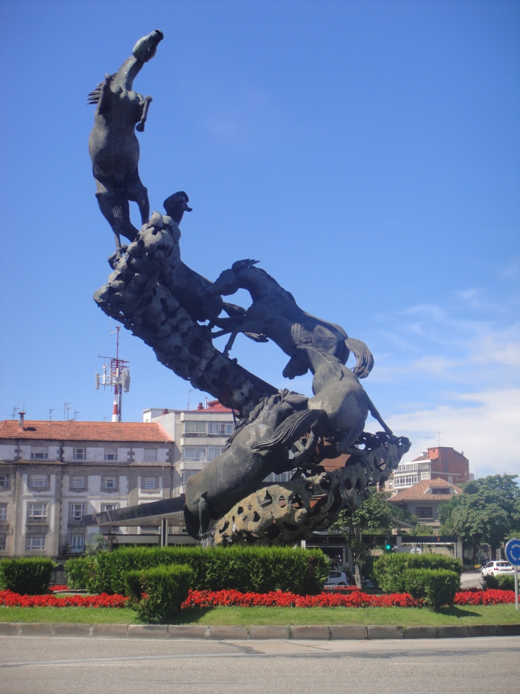 Vigo - July 2012 - the famous horse statue