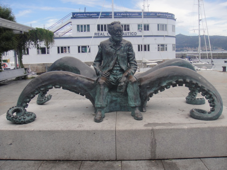 Vigo - July 2012 - man and octopus statue