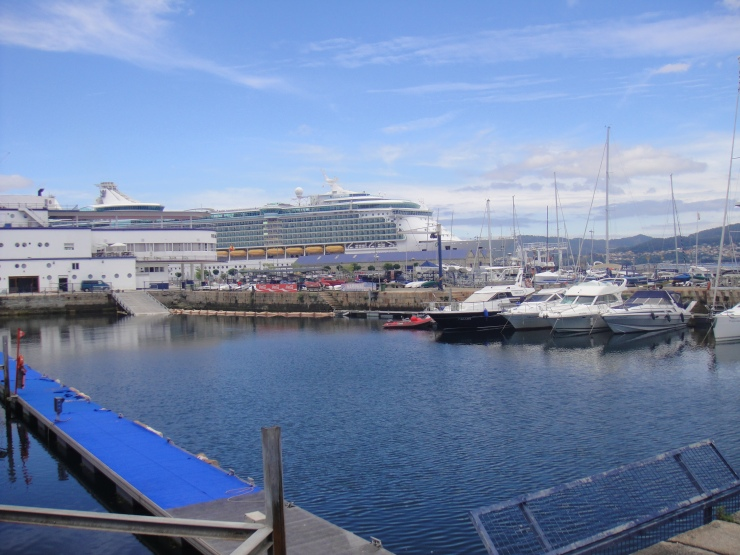 Vigo - July 2012 - harbour and Independence of the Seas in the background