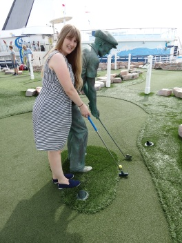 Oasis of the Seas Joanne and golf